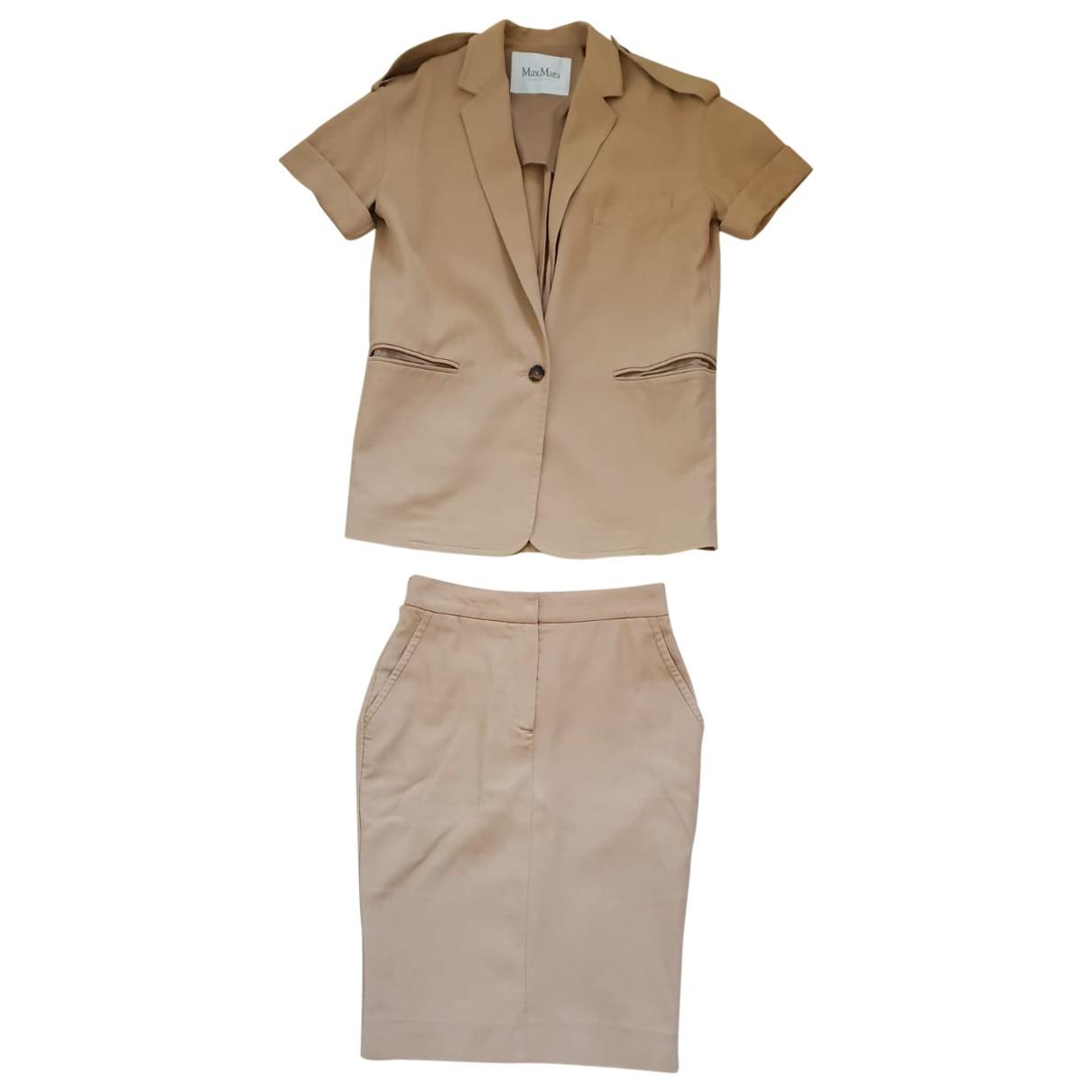 Max Mara - Jupe   pour femme en coton - beige