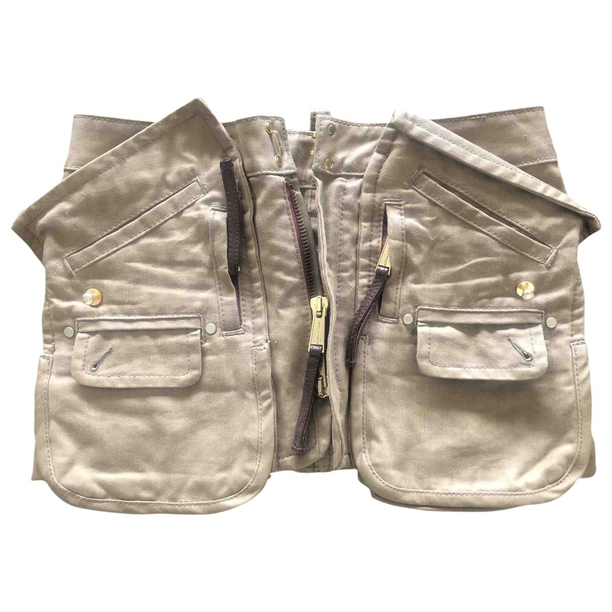 Dsquared2 \N Camel Cotton skirt for Women 38 IT