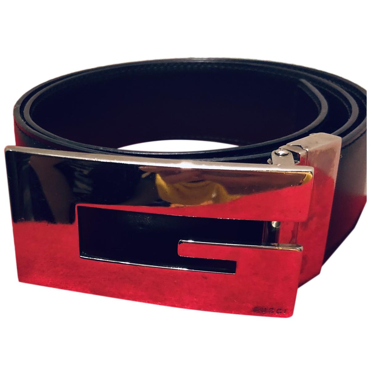 Gucci N Black Leather belt for Women XS International