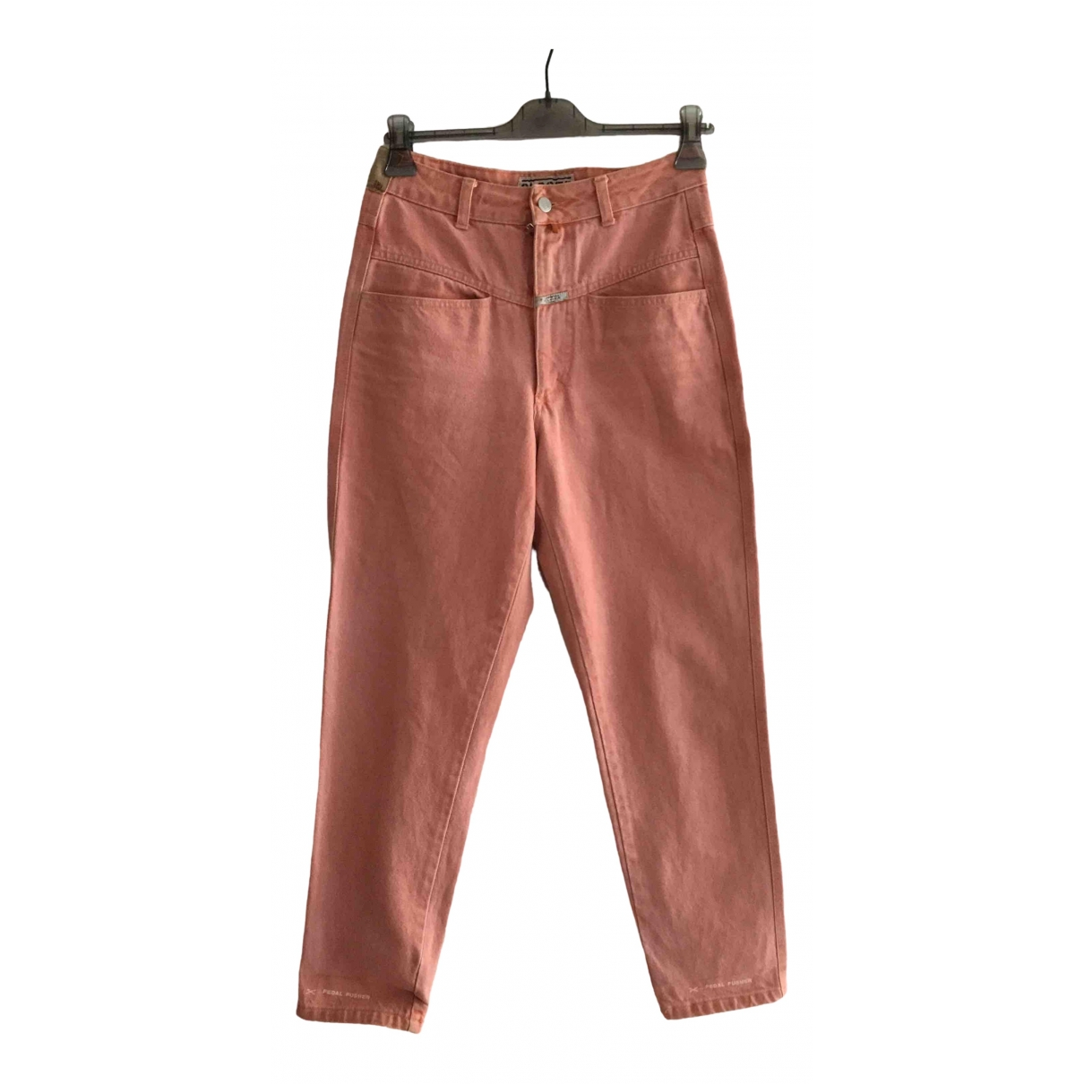Closed \N Pink Denim - Jeans Trousers for Women 46 IT