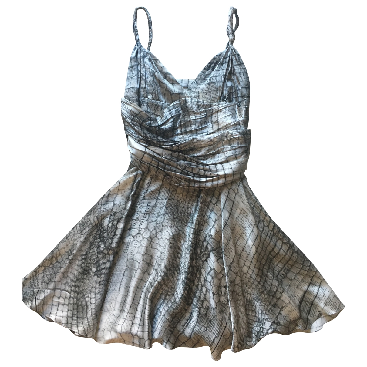 Galliano \N Anthracite Silk dress for Women 42 IT