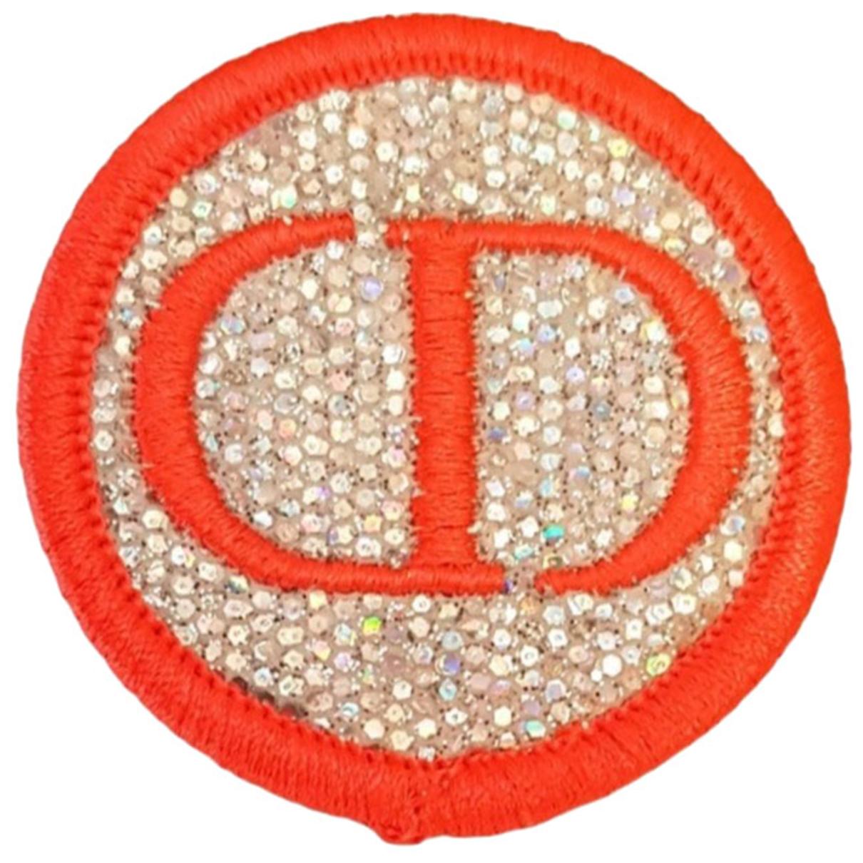 Dior \N Brosche in  Orange Leinen