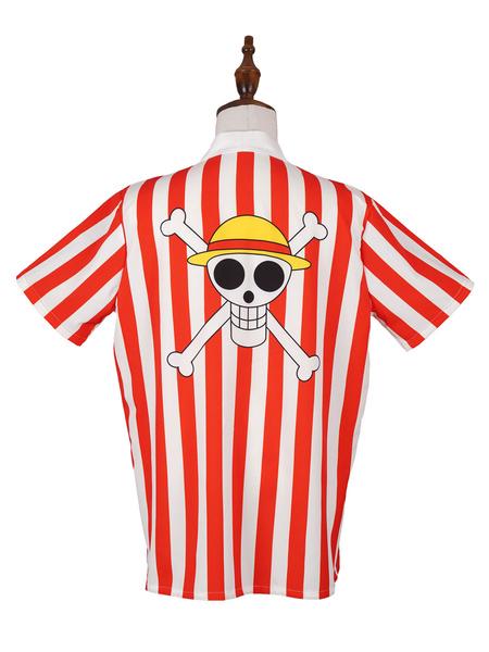 Milanoo One Piece Stampede 2019 Movie Monkey D Luffy camiseta Cosplay disfraz Halloween