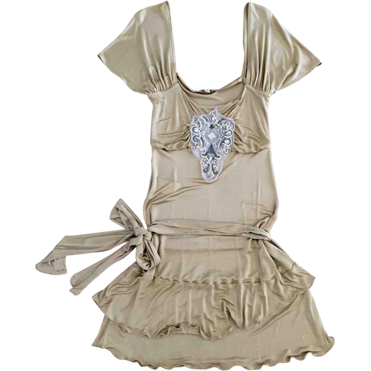 Patrizia Pepe \N Gold dress for Women 42 IT