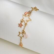 Armband mit Stern Anhaenger und Kette