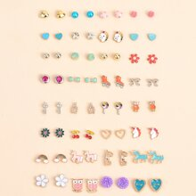 32pairs Cartoon Ear Stud