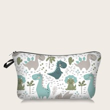 Dinosaur Cartoon Graphic Makeup Bag