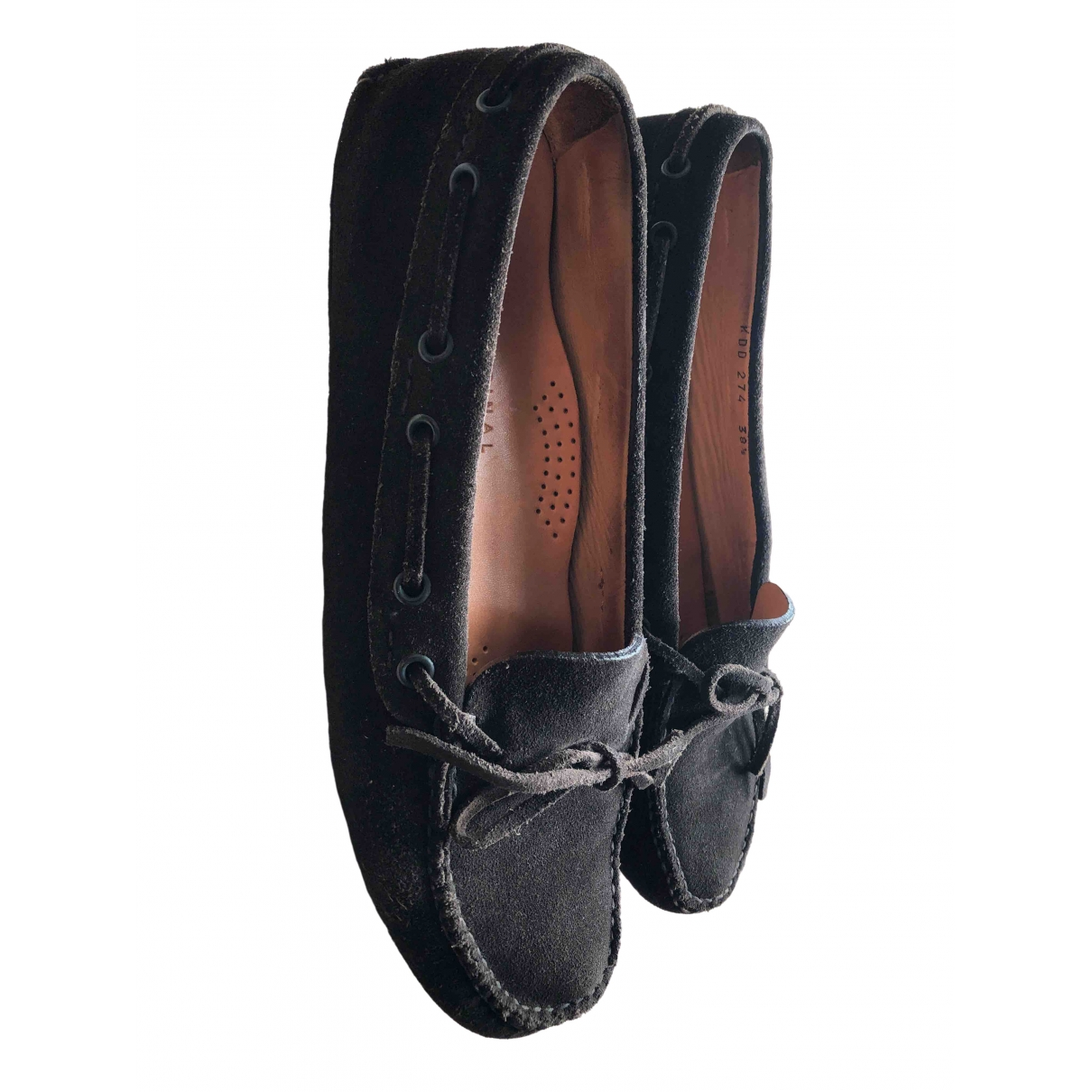 Carshoe \N Brown Suede Flats for Women 38.5 IT