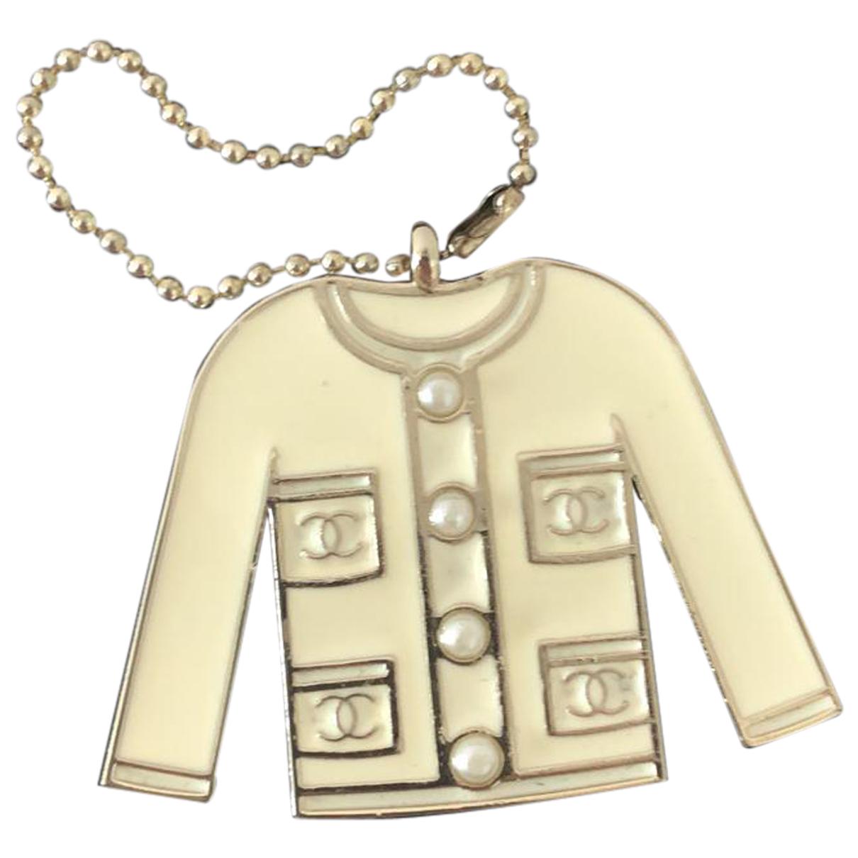 Chanel - Bijoux de sac CC pour femme en metal - ecru