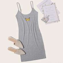 Butterfly Print Cami Dress