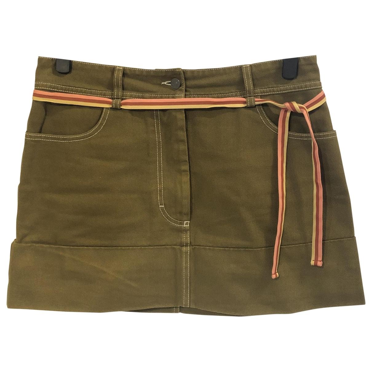 Acne Studios Blå Konst Green Cotton skirt for Women 44 IT