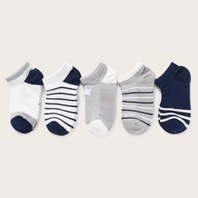 5 pares calcetines de niños de rayas