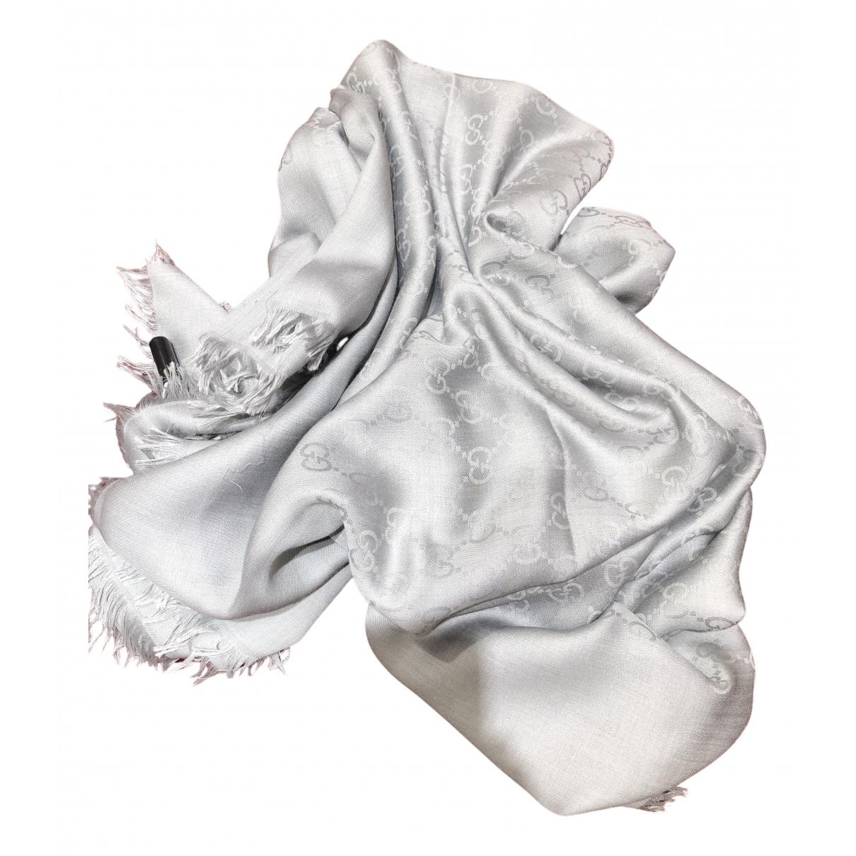 Gucci N Silver Silk scarf for Women N