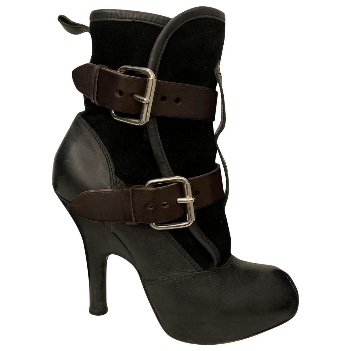 Vivienne Westwood \N Stiefeletten in  Schwarz Leder