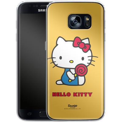 Samsung Galaxy S7 Silikon Handyhuelle - Hello Kitty Lollipop von Hello Kitty