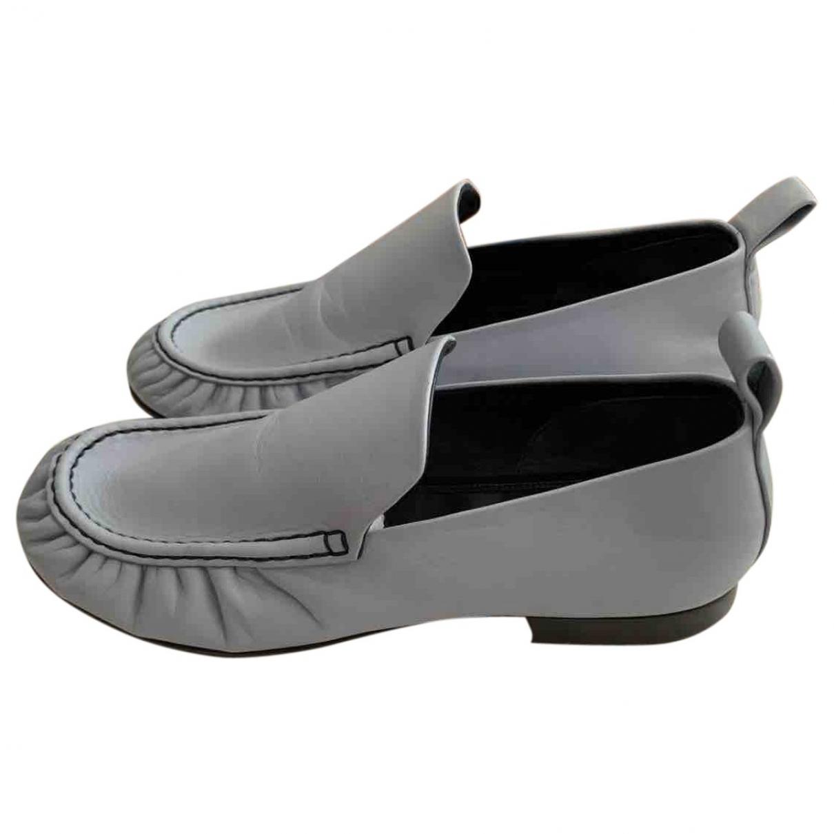 Celine \N Blue Leather Flats for Women 38 IT