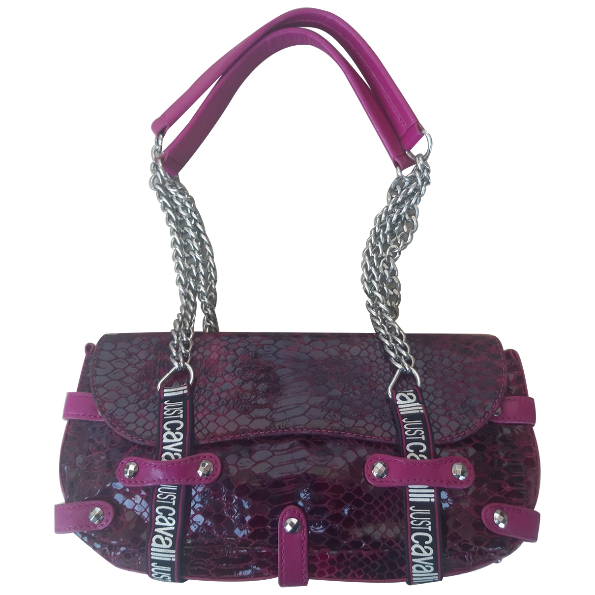 Just Cavalli \N Purple Leather handbag for Women \N