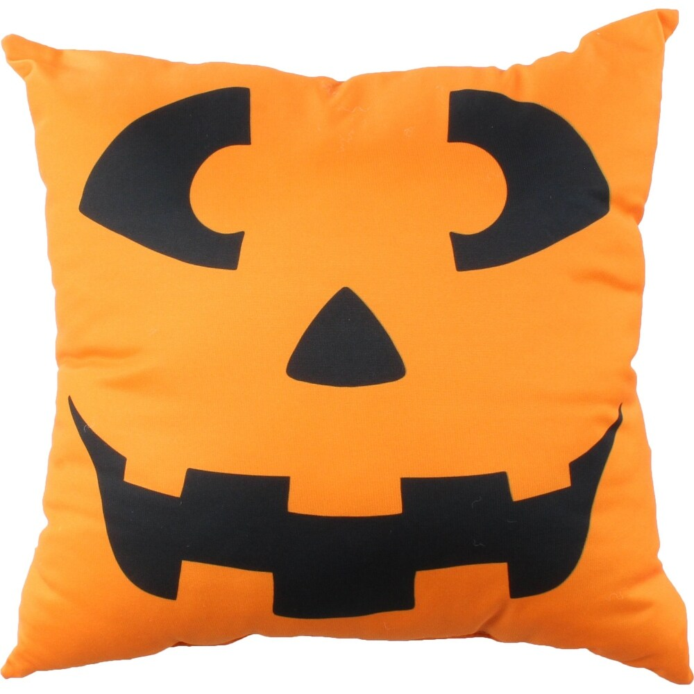Jack-o-Lantern Ghost Pillow (Single - Polyester - Accent)