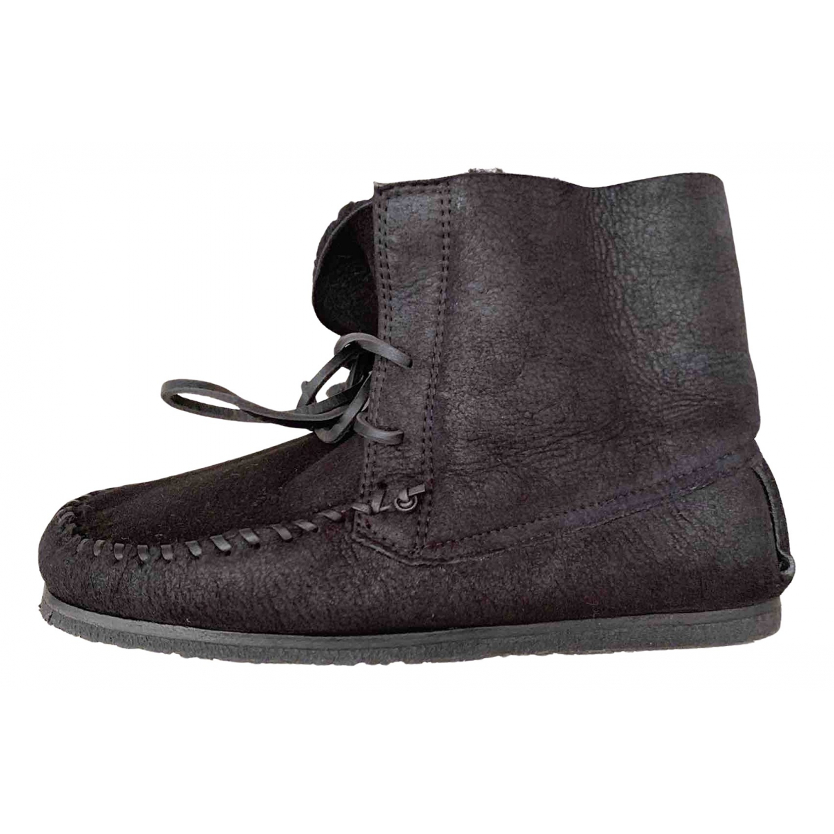 Isabel Marant N Black Leather Ankle boots for Women 37 EU
