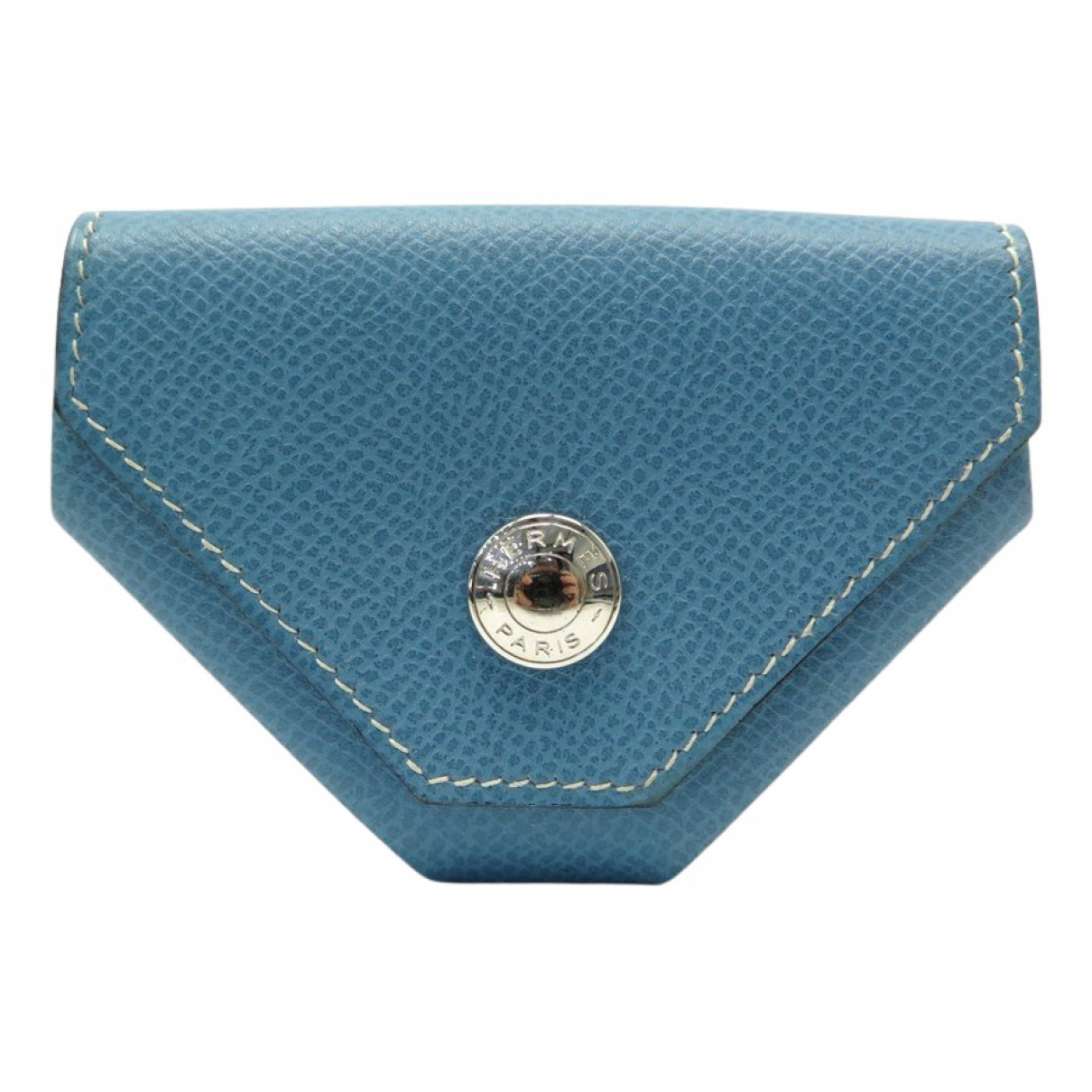 Hermes - Petite maroquinerie 24 pour homme en cuir - bleu