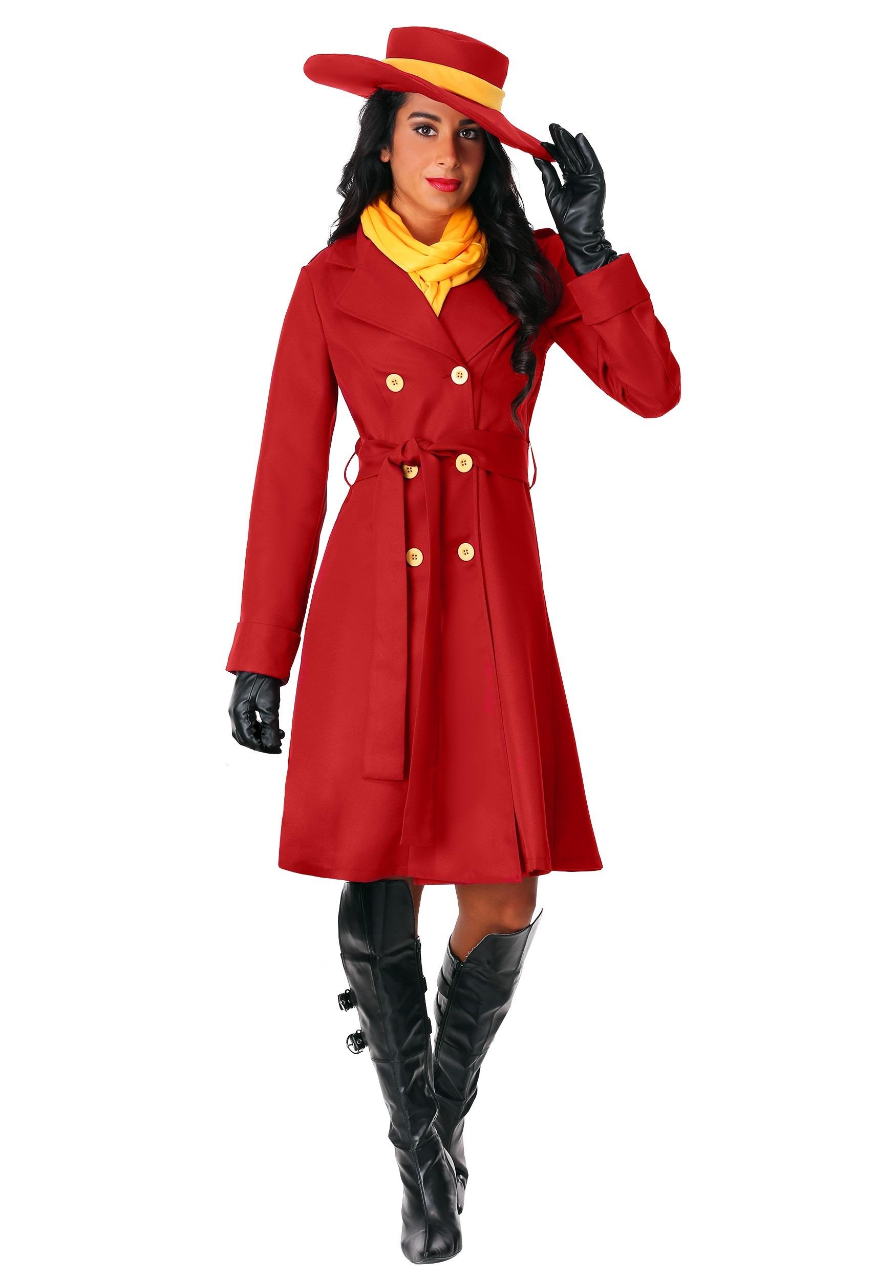 Plus Size Women's Carmen Sandiego Costume | Exclusive