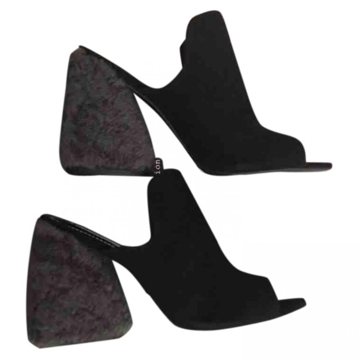tophop Boutique \N Black Suede Sandals for Women 6 UK