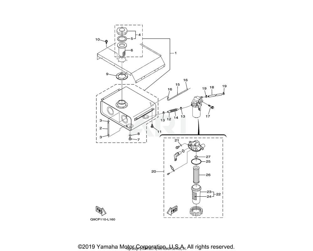 Yamaha OEM YF1-G3134-35-70 O RING