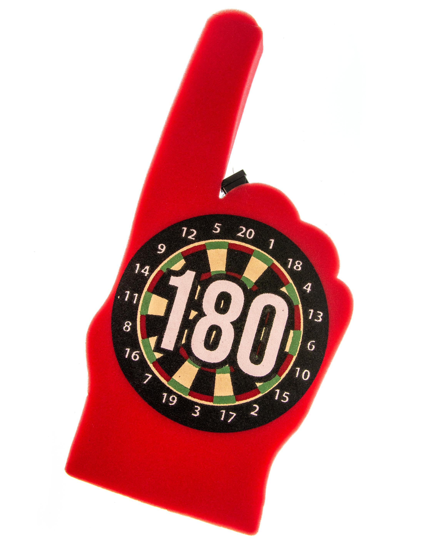 Kostuemzubehor Winkehand Darts 180 leuchtend Farbe: rot