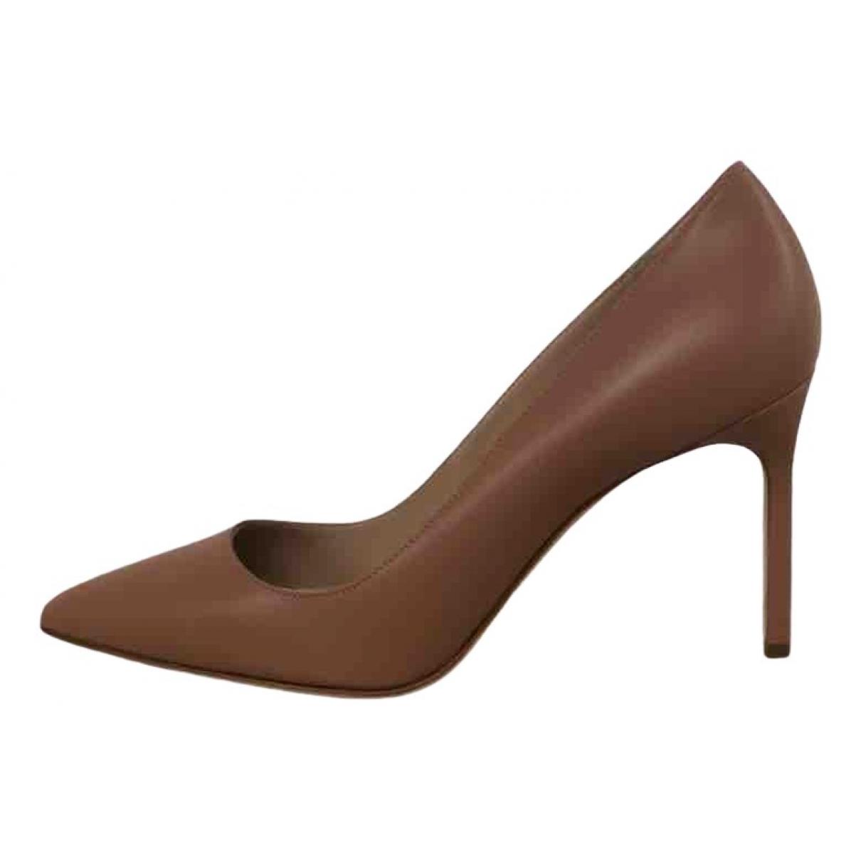 Manolo Blahnik - Escarpins   pour femme en cuir - marron