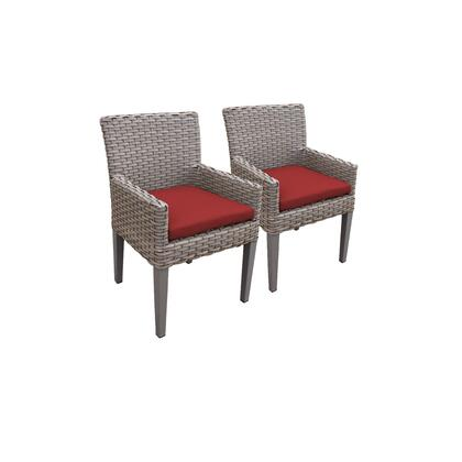 TKC297b-DC-C-TERRACOTTA 2 Oasis Dining Chairs With Arms with 2 Covers: Grey and