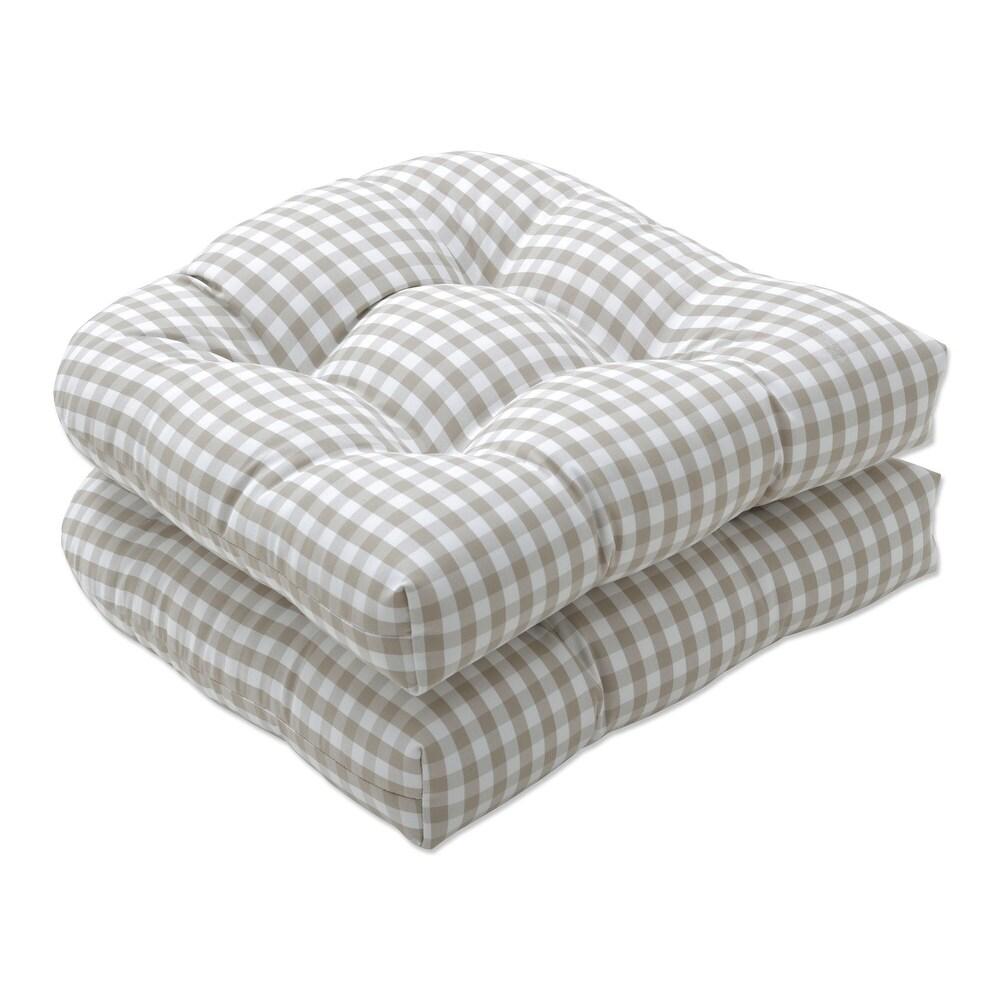 Pillow Perfect Outdoor | Indoor Dawson Birch Seat Cushion (Set of 2) 19 X 19 X 5 (Tan)