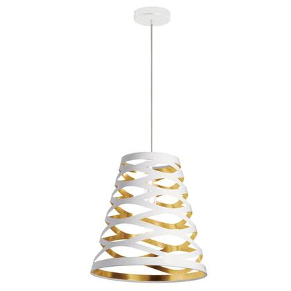 CUT14-692 1 Light Pendant With White On Gold
