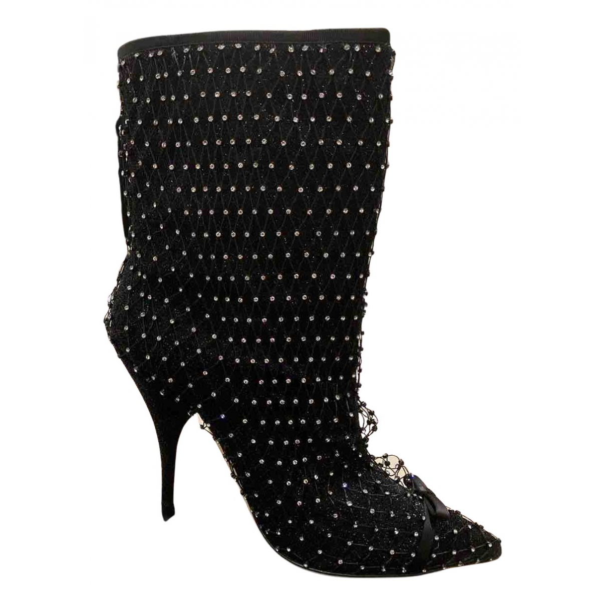 Marco De Vincenzo - Boots   pour femme en cuir - noir