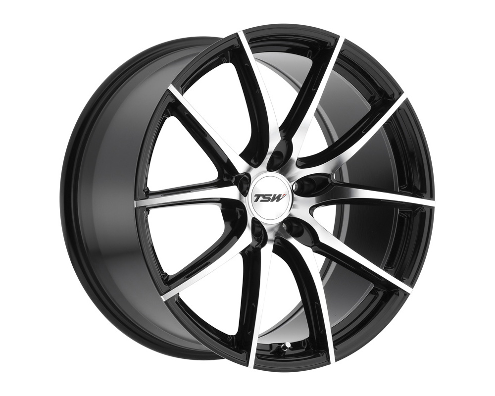 TSW Sprint Wheel 18x8.5 5x112 32mm Gloss Black w/ Mirror Cut Face