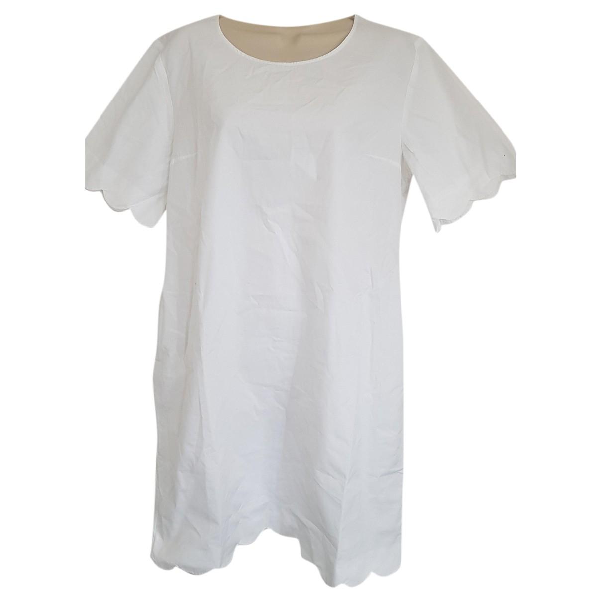 Cos - Robe   pour femme en coton - blanc