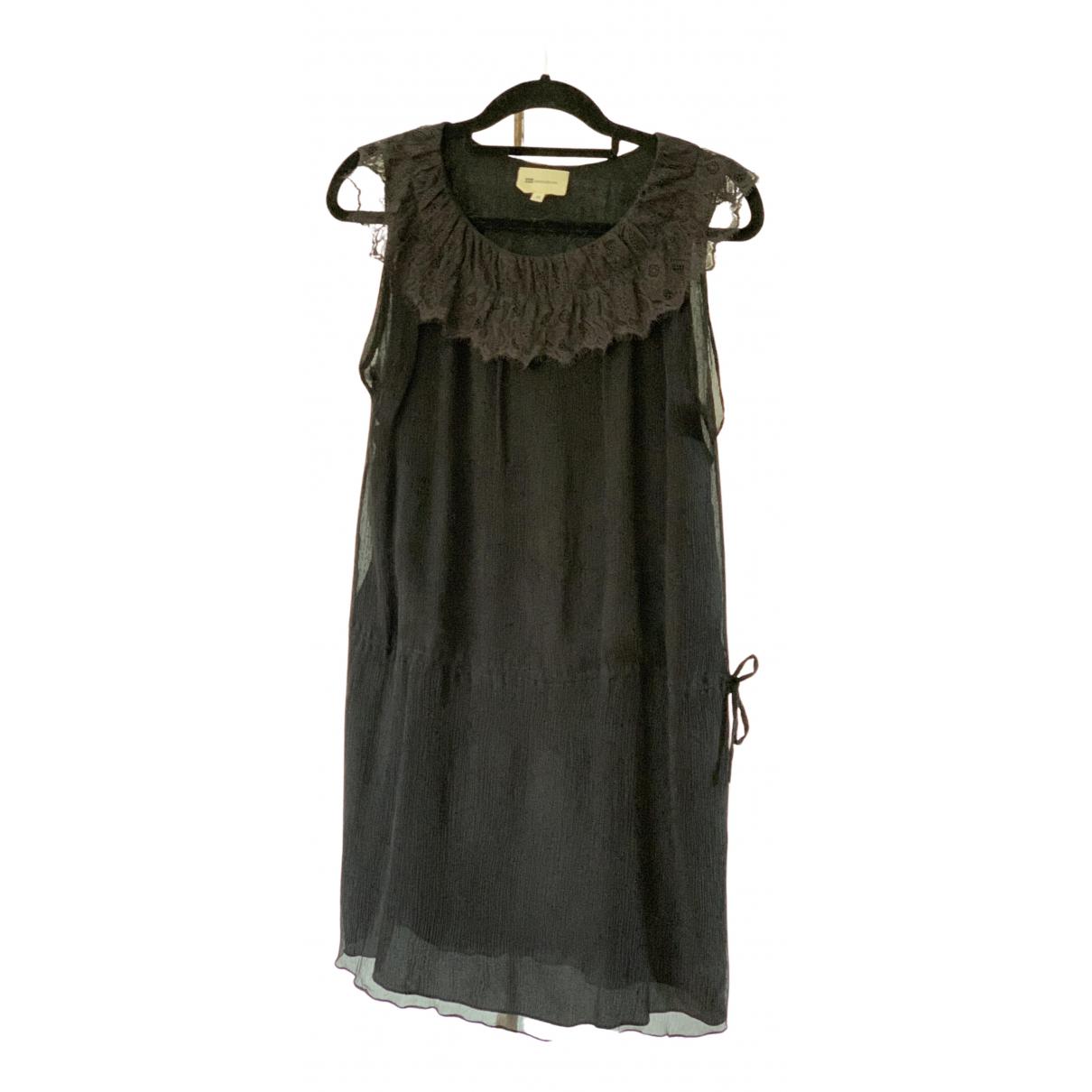 Vanessa Bruno Athe N Black Silk dress for Women 38 FR
