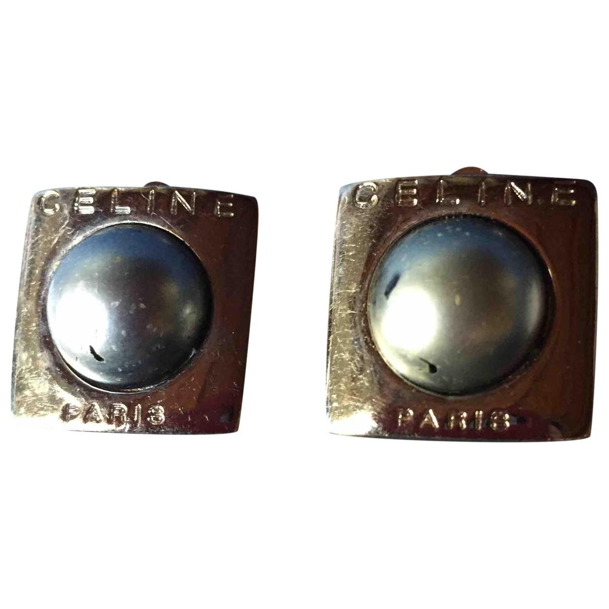 Celine - Boucles doreilles   pour femme en metal - argente