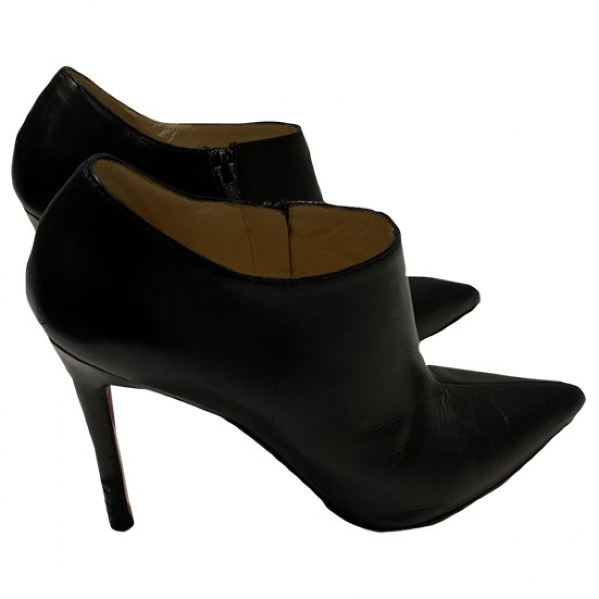 Christian Louboutin \N Black Leather Ankle boots for Women 37 EU