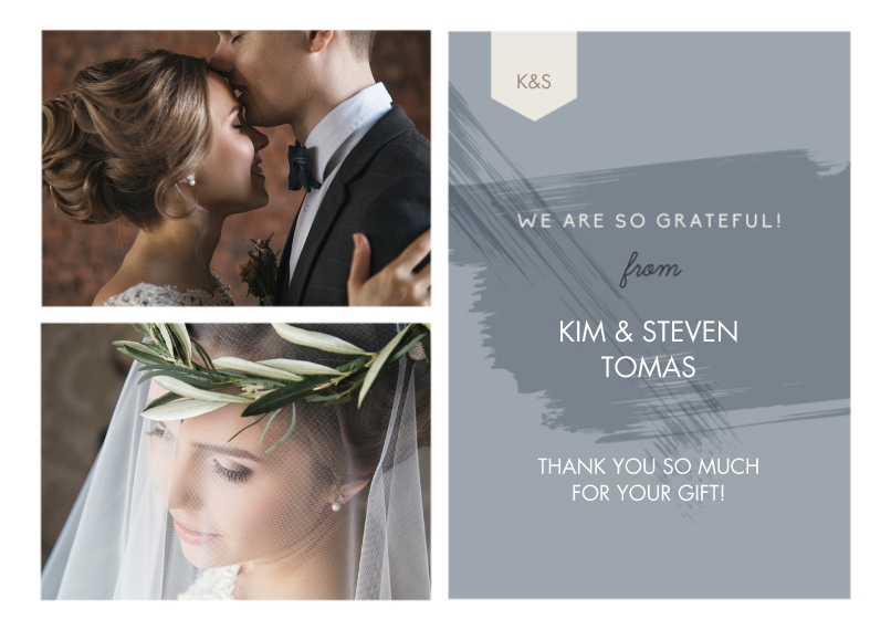 Wedding Thank You Mail-for-Me Premium 5x7 Flat Card, Card & Stationery -Paint Thank You Wedding Set