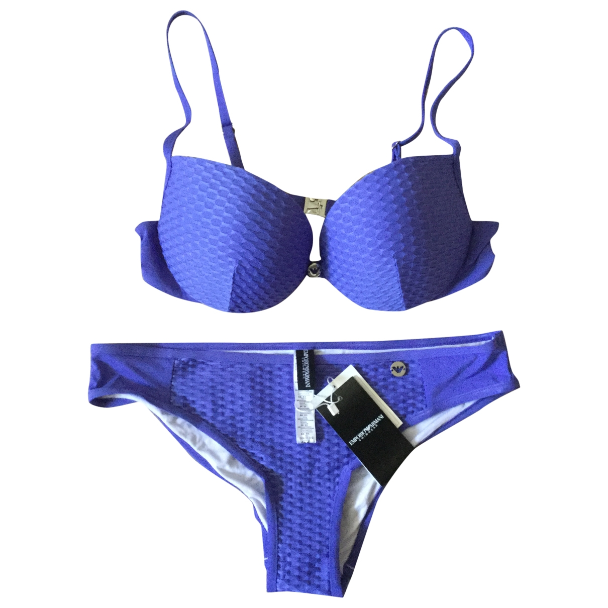 Emporio Armani \N Badeanzug in  Lila Polyester