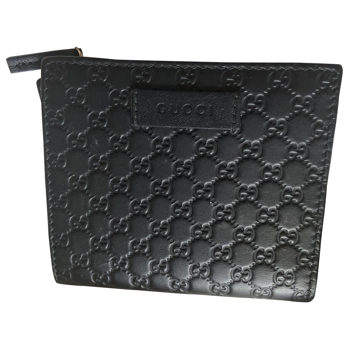 Gucci - Portefeuille   pour femme en cuir - noir