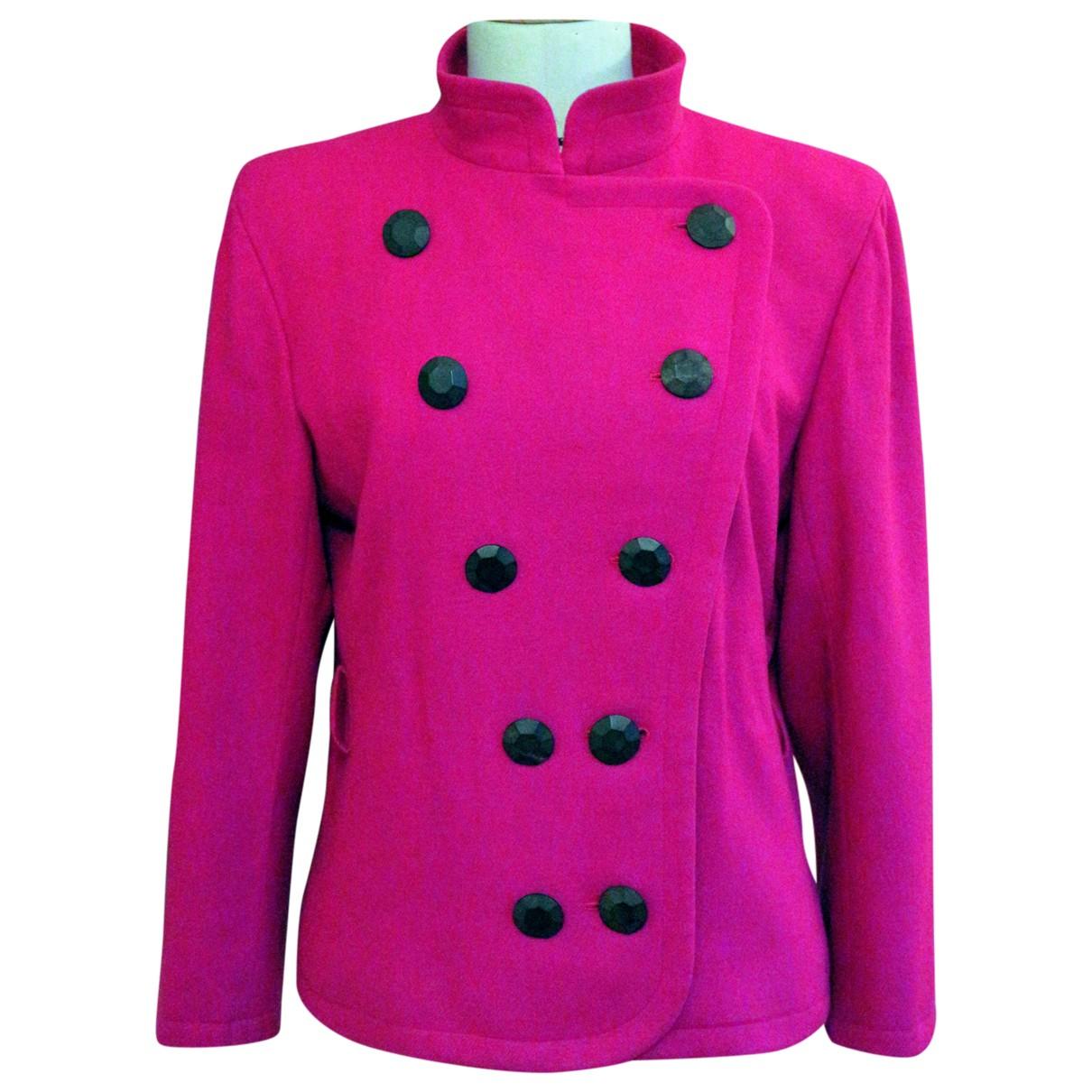 Yves Saint Laurent - Veste   pour femme en laine - rose