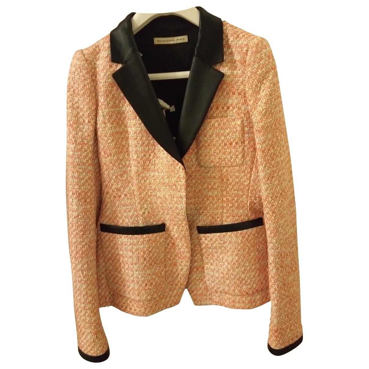 Balenciaga - Robe   pour femme en tweed - rose