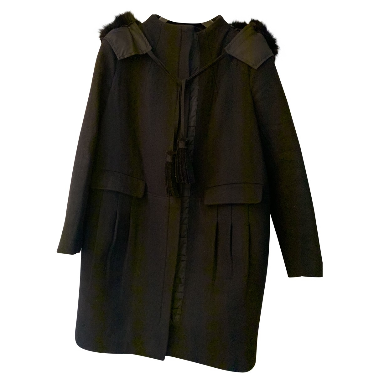 Prada \N Black Fur coat for Women 44 IT