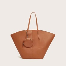 Minimalist Tote Bag With Coin Case