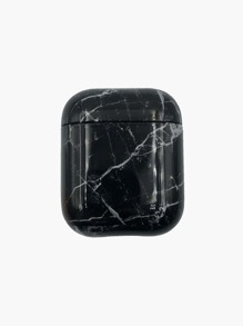 1pc Marble Print AirPods Case