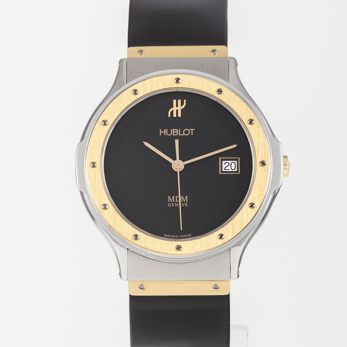 Hublot MDM Uhr in  Schwarz Gold und Stahl