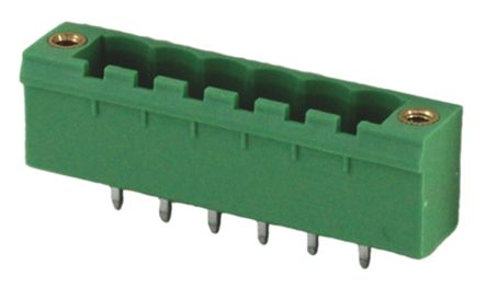 RS PRO , 4 Way, 1 Row, Straight PCB Terminal Block Header (10)