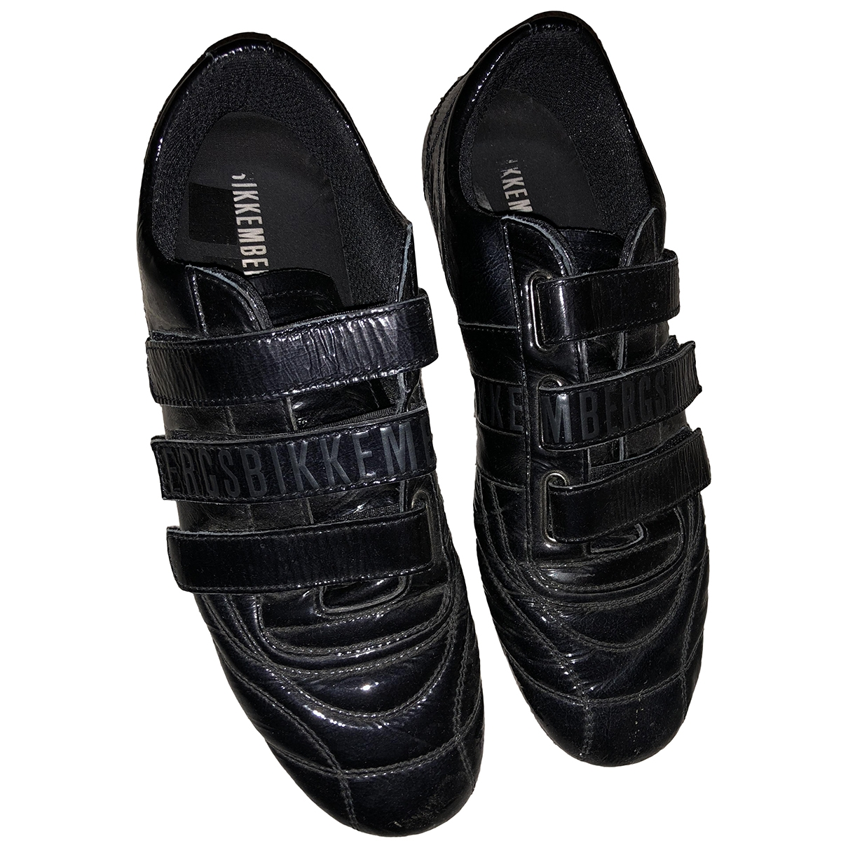 Dirk Bikkembergs - Baskets   pour homme en cuir verni - noir