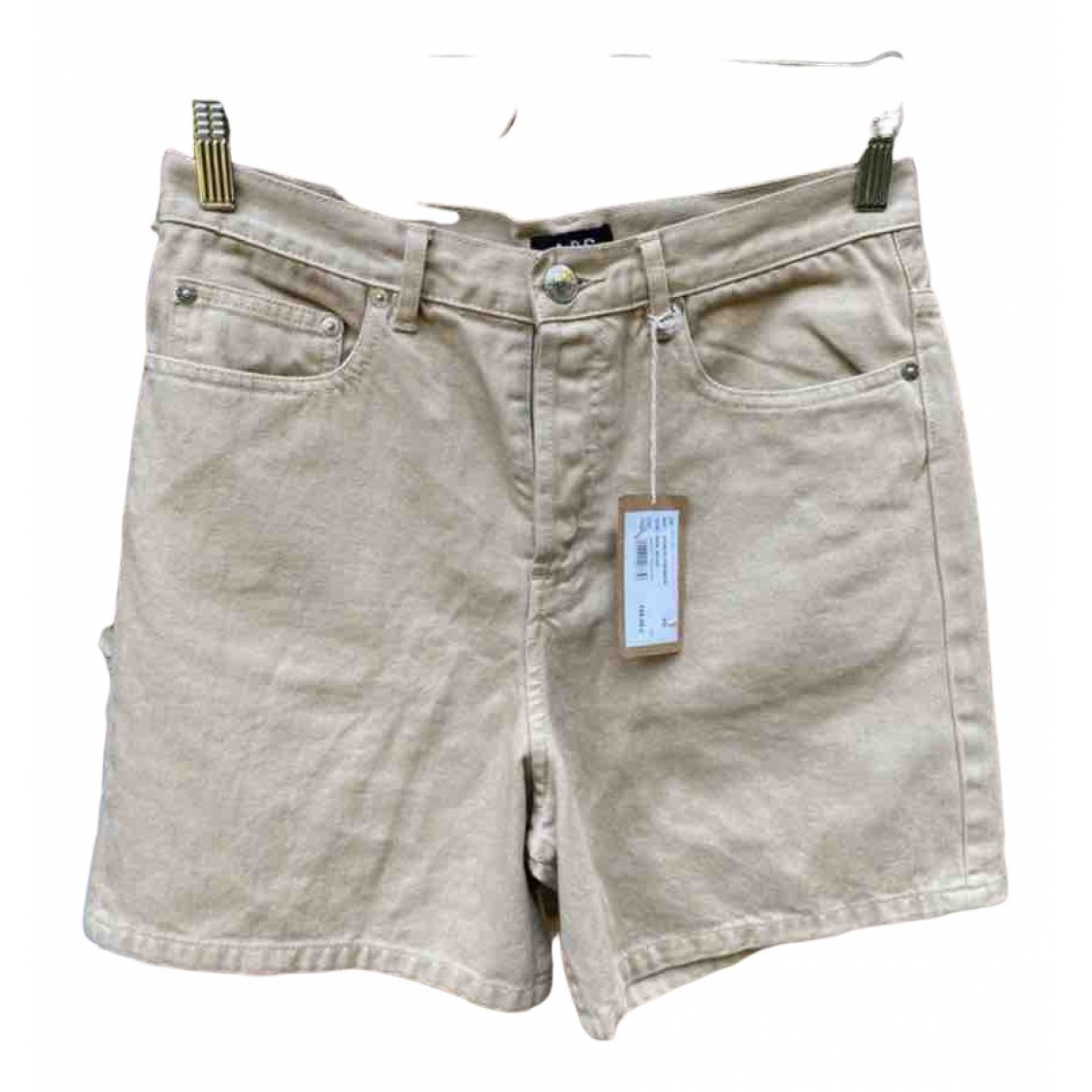 Apc N Beige Cotton Shorts for Women XS International